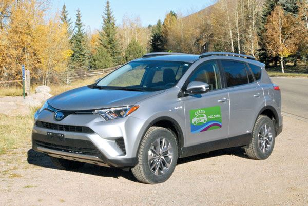 Image of a Toyota RAV4 with CarToGo branding