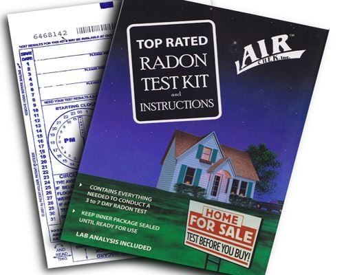 Radon test kit image