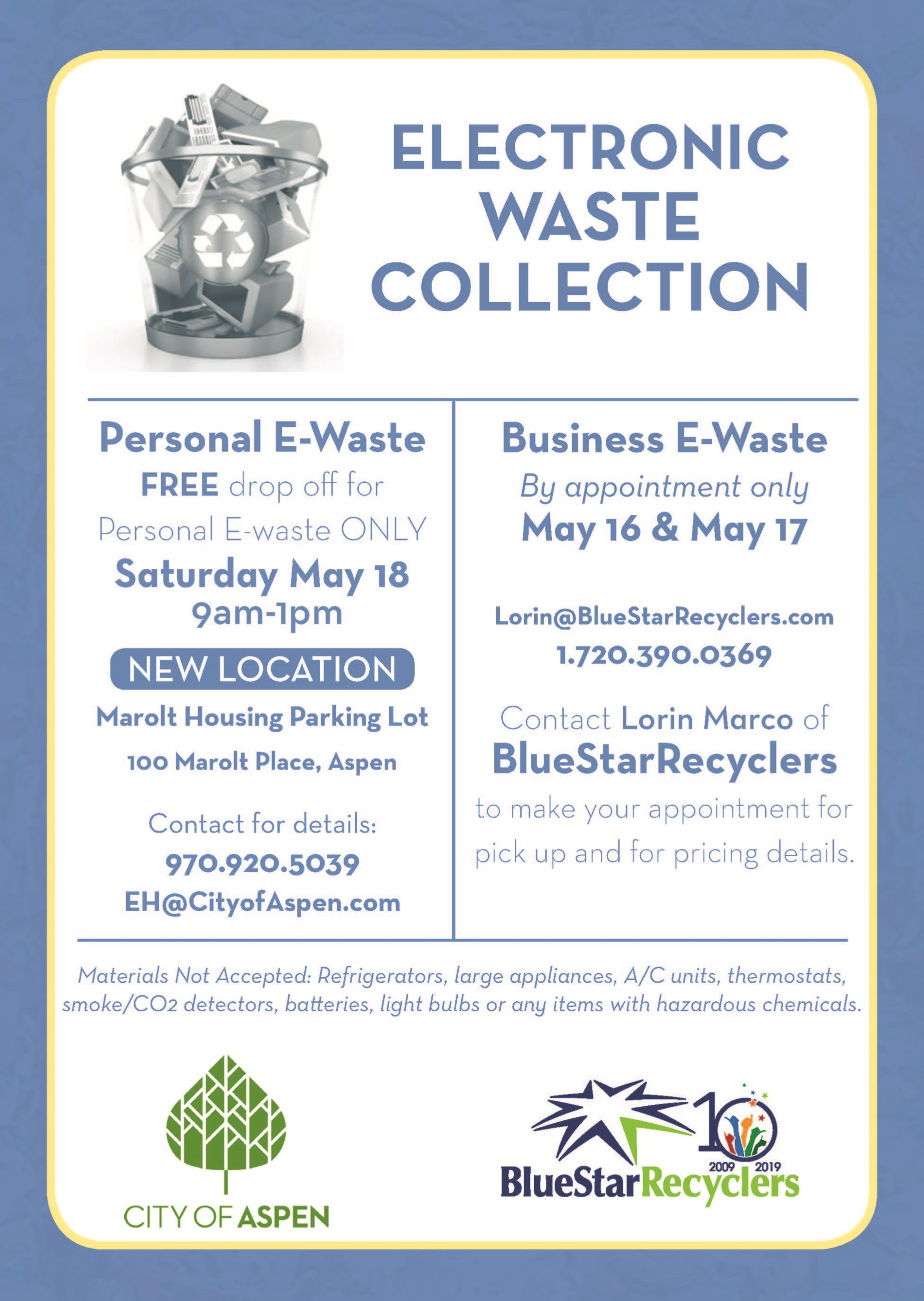 E-Waste May 2019 Flier