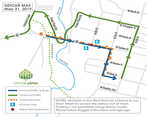 CCB Detour Map
