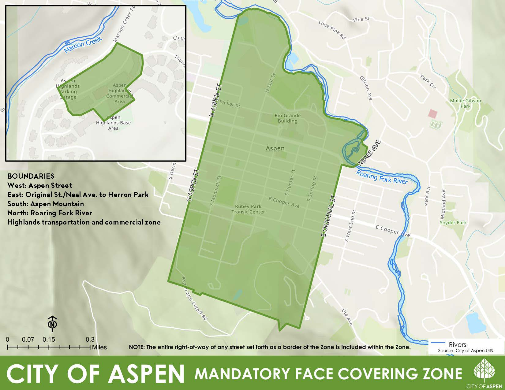 COA Mandatory Face Covering Zone no City Limit
