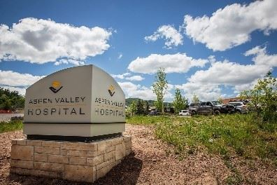 Aspen Valley Hospital Sign