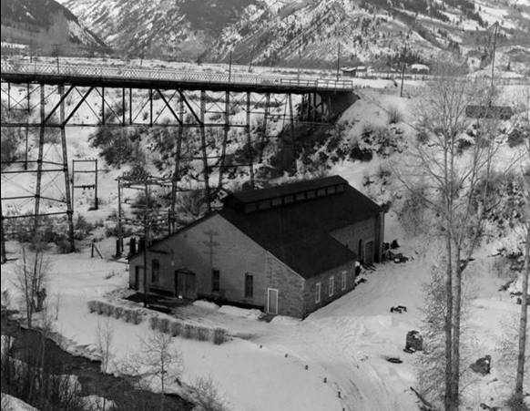 Historic Image of Aspen Hydroelectric Plant